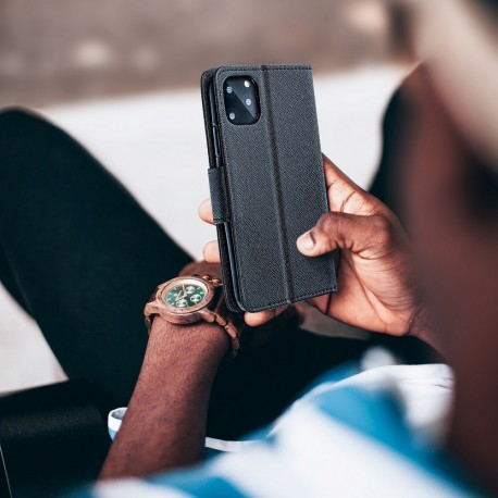 Kabura Canvas Book - iPhone 5/5S/SE granatowy